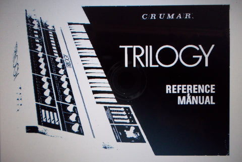 CRUMAR TRILOGY POLYPHONIC SYNTHESIZER REFERENCE MANUAL 28 PAGES ENG