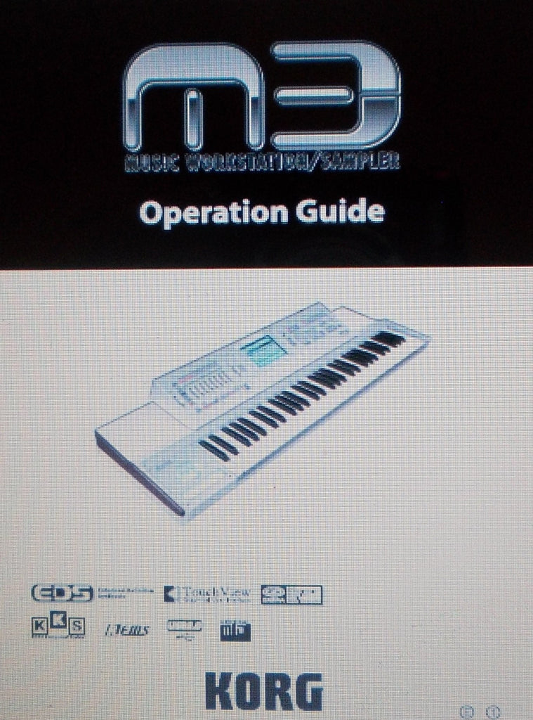 KORG M3 MUSIC WORKSTATION SAMPLER OPERATION GUIDE INC TRSHOOT GUIDE 237 PAGES ENG