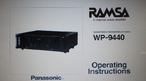PANASONIC WP9440 2 CHANNEL POWER AMP OPERATING INSTRUCTIONS INC CONN DIAGS AND BLK DIAG 10 PAGES ENG