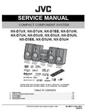 JVC NX-D7 SERIES NX-D5 SERIES COMPACT COMPONENT SYSTEM SERVICE MANUAL INC BLK DIAG PCBS SCHEM DIAGS AND PARTS LIST 55 PAGES ENG
