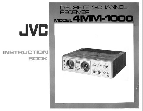 JVC 4MM-1000 DISCRETE 4 CHANNEL RECEIVER INSTRUCTION BOOK INC CONN DIAGS AND TRSHOOT GUIDE 23 PAGES ENG DEUT FRANC