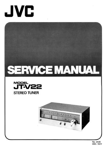 JVC JT-V22 STEREO TUNER SERVICE MANUAL INC PCBS SCHEM DIAG AND PARTS LIST 22 PAGES ENG