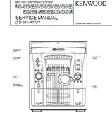 KENWOOD RXD-A33 RXD-303 RXD-303E RXD-353 RXD-353E RXD-503 RXD-503E RXD-553 RXD-553E RXD-553-GR RXD-E-GR RXD-653 RXD-653E RXD-A53 RXD-A53-GR MINI HIFI COMPONENT SYSTEM SERVICE MANUAL INC BLK DIAG WIRING DIAG PCB'S SCHEM DIAGS AND PARTS LIST 36 PAGES ENG