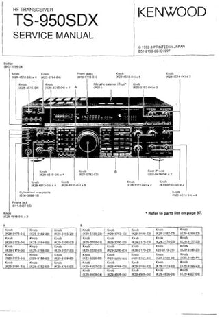 KENWOOD TS-950SDX HF TRANSCEIVER SERVICE MANUAL INC BLK DIAG PCBS SCHEM DIAGS AND PARTS LIST 349 PAGES ENG