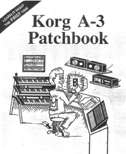KORG A3 PERFORMANCE SIGNAL PROCESSOR PATCHBOOK 34 PAGES