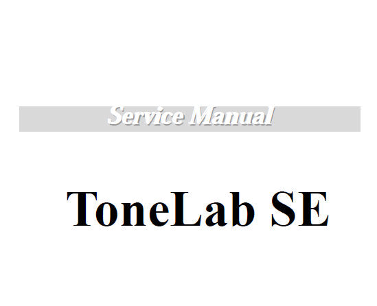 KORG TONELAB SE VOX VALVETRONIX SERVICE MANUAL INC BLK DIAGS SCHEM DIAGS AND PARTS LIST 16 PAGES ENG