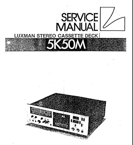 LUXMAN 5K50M STEREO CASSETTE TAPE DECK SERVICE MANUAL INC