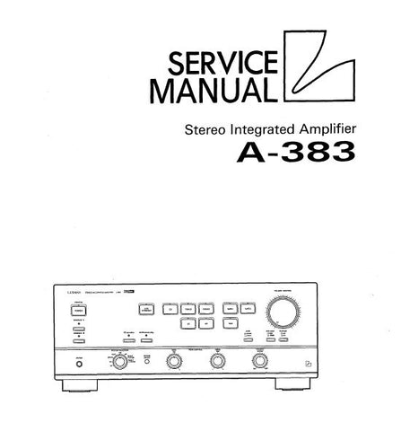 LUXMAN A-383 STEREO INTEGRATED AMP SERVICE MANUAL INC BLK