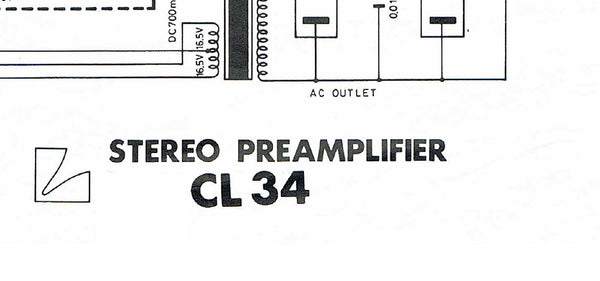 LUXMAN CL-34 STEREO PREAMP SCHEMATIC DIAGRAM 1 PAGE ENG