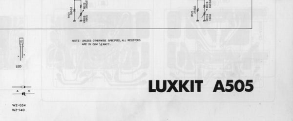 LUXMAN LUXKIT A505 SCHEMATIC DIAGRAMS 6 PAGES ENG