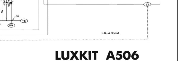 LUXMAN LUXKIT A506 ELECTRONIC CROSSOVER NETWORK SCHEMATIC
