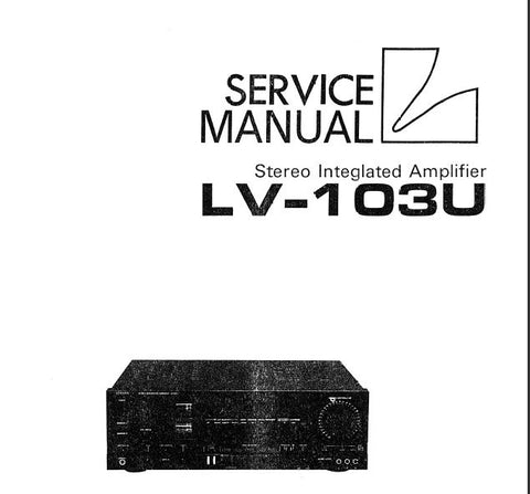 Luxman lv-103 manual stereo integrated amplifier hifi engine.