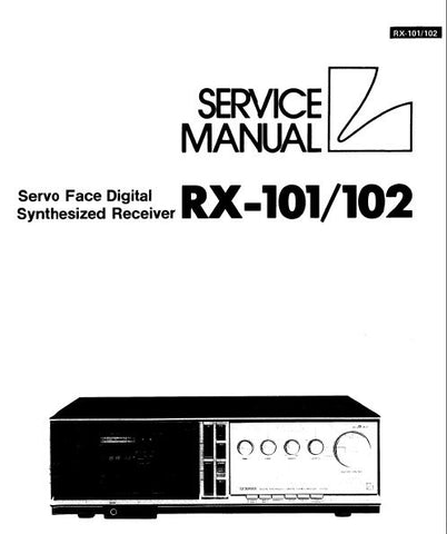 LUXMAN RX-101 RX-102 SERVO FACE DIGITAL SYNTHESIZED STEREO