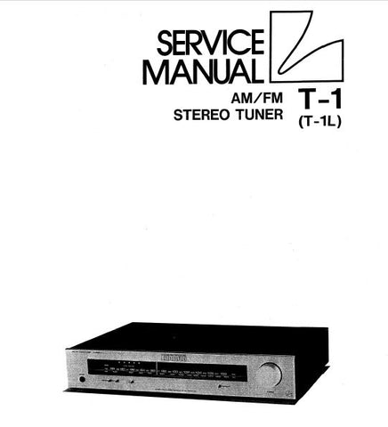 LUXMAN T-1 T-1L AM FM STEREO TUNER SERVICE MANUAL INC SCHEM DIAG PCB AND PARTS LIST 16 PAGES ENG