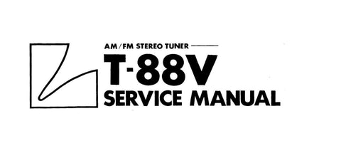 LUXMAN T-88V AM FM STEREO TUNER SERVICE MANUAL INC SCHEMS