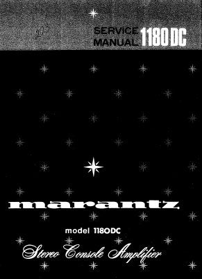 MARANTZ PM-1180DC STEREO CONSOLE AMPLIFIER SERVICE MANUAL INC PCBS SCHEM DIAGS AND PARTS LIST 28 PAGES ENG