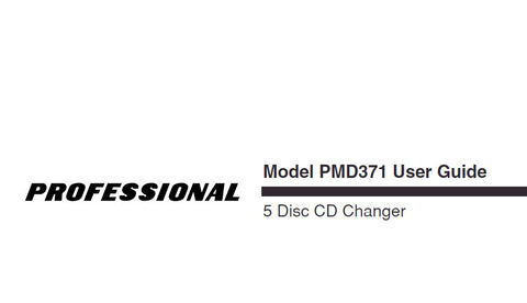 MARANTZ PMD371 5 DISC CD CHANGER USER GUIDE 35 PAGES ENG
