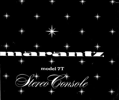 MARANTZ 7T STEREO CONSOLE SERVICE MANUAL INC BLK DIAG TRSHOOT GUIDE SCHEM DIAGS AND PARTS LIST 28 PAGES ENG