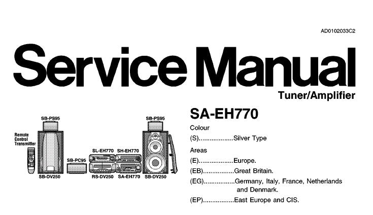 NATIONAL SA-EH770 TUNER AMPLIFIER SERVICE MANUAL INC SCHEM