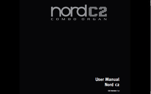 NORD C2 COMBO ORGAN USER MANUAL INC CONN DIAG 25 PAGES ENG