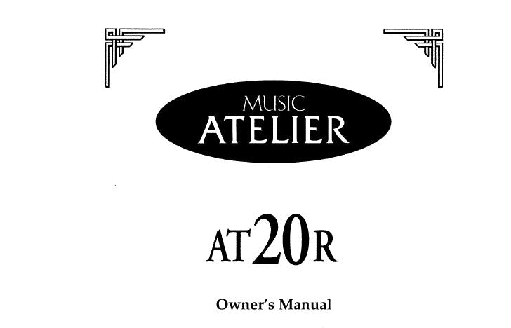 ROLAND AT-20R MUSIC ATELIER SERIES ELECTRONIC ORGAN OWNER'S MANUAL INC TRSHOOT GUIDE 138 PAGES ENG