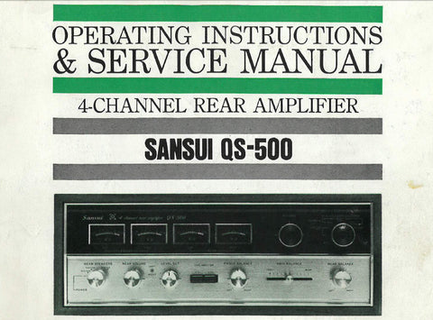rear amp tagged vintage audio manual the manuals service rh themanualsservice com Sansui History Sansui Rear Amp Channel