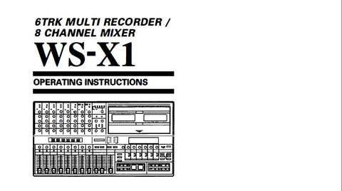 SANSUI WS-X1 6 TRACK RECORDER 8 CHANNEL MIXER OPERATING INSTRUCTIONS INC BLK DIAG 19 PAGES ENG