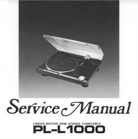 PIONEER PL-L1000 LINEAR MOTOR ARM STEREO TURNTABLE SERVICE MANUAL INC BLK DIAG PCBS SCHEM DIAGS AND PARTS LIST 71 PAGES ENG