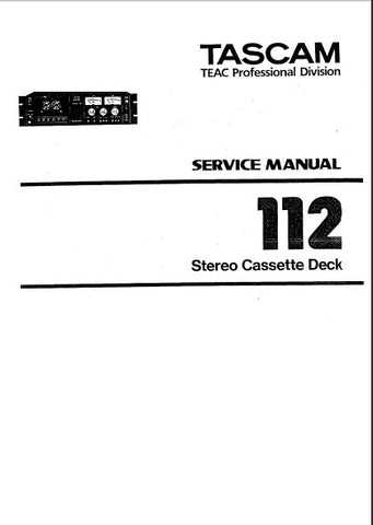 TASCAM 112mkI STEREO CASSETTE TAPE DECK SERVICE MANUAL INC BLK DIAGS SCHEMS PCBS AND PARTS LIST 53 PAGES ENG