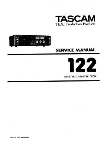 TASCAM 122MKI MASTER STEREO CASSETTE TAPE DECK SERVICE MANUAL INC BLK DIAGS SCHEMS PCBS AND PARTS LIST 74 PAGES ENG