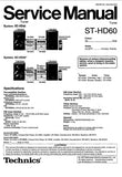 TECHNICS ST-HD60 TUNER SERVICE MANUAL INC BLK DIAG PCBS SCHEM DIAGS AND PARTS LIST 40 PAGES ENG