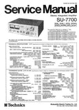 TECHNICS SU-7700 STEREO INTEGRATED AMPLIFIER SERVICE MANUAL INC BLK DIAG PCBS SCHEM DIAG AND PARTS LIST 9 PAGES ENG