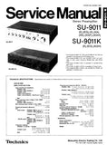 TECHNICS SU-9011 SU-9011K STEREO PREAMPLIFIER SERVICE MANUAL INC BLK DIAG PCBS SCHEM DIAG AND PARTS LIST 11 PAGES ENG