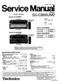 TECHNICS SU-C800UM2 CONTROL AMPLIFIER SERVICE MANUAL INC BLK DIAG PCBS SCHEM DIAG AND PARTS LIST 18 PAGES ENG