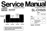 TECHNICS SL-CH505 CD PLAYER SERVICE MANUAL INC BLK DIAG SCHEM DIAGS PCB'S WIRING CONN DIAG TRSHOOT GUIDE AND PARTS LIST 18 PAGES ENG