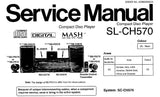 TECHNICS SL-CH570 CD PLAYER SERVICE MANUAL INC SCHEM DIAGS PCB'S WIRING CONN DIAG BLK DIAG TRSHOOT GUIDE AND PARTS LIST 30 PAGES ENG