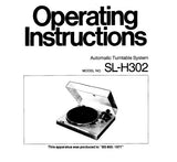 TECHNICS SL-H302 AUTOMATIC TURNTABLE OPERATING INSTRUCTIONS 6 PAGES ENG