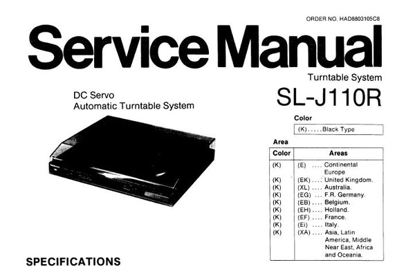 TECHNICS SL-J110R DC SERVO AUTOMATIC TURNTABLE SYSTEM