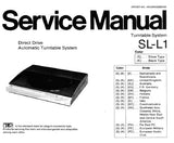 TECHNICS SL-L1 (M) (MC) TURNTABLE SYSTEM SL-L1 DIRECT DRIVE AUTOMATIC TURNTABLE SYSTEM SERVICE MANUALS INC CONN DIAGS PCB'S WIRING CONN DIAG SCHEM DIAGS BLK DIAG TRSHOOT GUIDE AND PARTS LIST 29 PAGES ENG