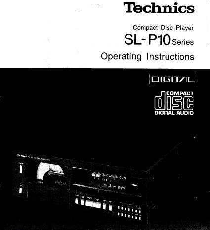 TECHNICS SL-P10 SERIES CD PLAYER OPERATING INSTRUCTIONS INC CONN DIAG AND TRSHOOT GUIDE 14 PAGES ENG