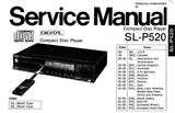 TECHNICS SL-P520 CD PLAYER SERVICE MANUAL INC TRSHOOT GUIDE PCB'S WIRING CONN DIAG SCHEM DIAG BLK DIAG AND PARTS LIST 35 PAGES ENG