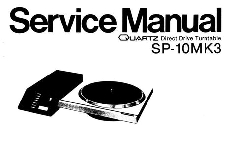 TECHNICS SP-10MK3 QUARTZ DIRECT DRIVE TURNTABLE SERVICE