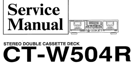 PIONEER CT-W504R STEREO DOUBLE CASSETTE DECK SERVICE