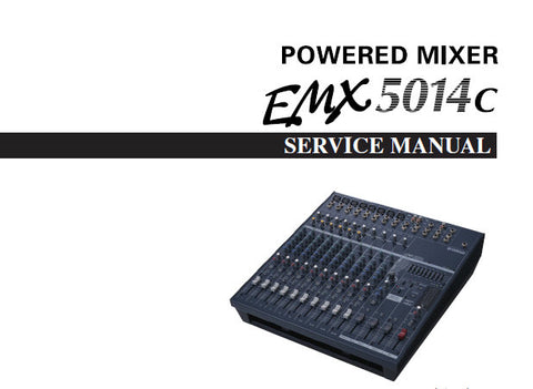 YAMAHA EMX5014c POWERED MIXER SERVICE MANUAL INC WIRING DIAG PCBS BLK DIAG CIRC DIAGS AND PARTS LIST 178 PAGES ENG JAP