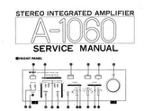 YAMAHA A-1060 STEREO INTEGRATED AMPLIFIER SERVICE MANUAL INC BLK DIAG WIRING DIAG PCB'S SCHEM DIAG AND PARTS LIST 28 PAGES ENG