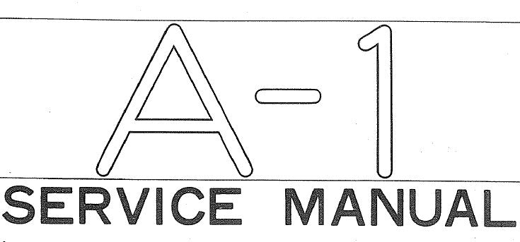 YAMAHA A-1 INTEGRATED STEREO AMPLIFIER SERVICE MANUAL INC BLK DIAG LEVEL DIAG WIRING DIAG PCB'S SCHEM DIAG AND PARTS LIST 34 PAGES ENG