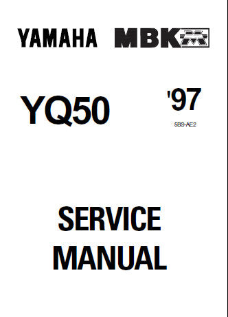yamaha aerox yq50 scooter service manual 1997 inc schem diag wiring diags  and trshoot guide 192
