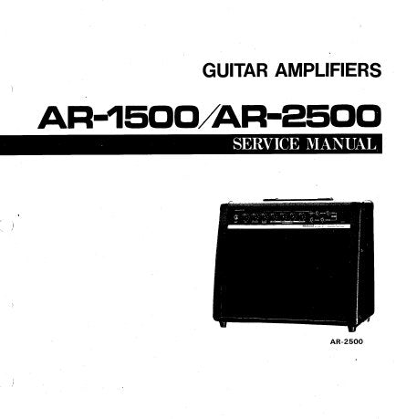 YAMAHA AR-1500 AR-2500 GUITAR AMPLIFIER SERVICE MANUAL INC