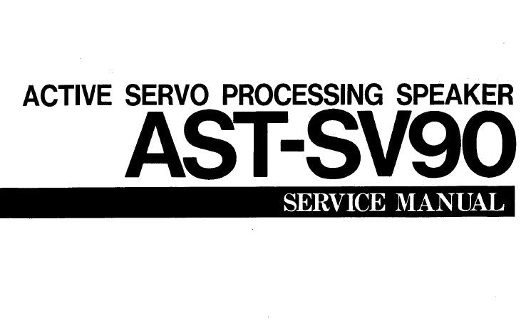 YAMAHA AST-SV90 ACTIVE SERVO PROCESSING SPEAKER SERVICE MANUAL INC SCHEM DIAG PCB NETWORK WIRING DIAG NETWORK CIRC DIAG AND PARTS LIST 4 PAGES ENG