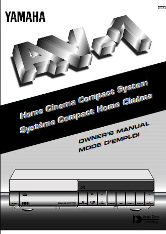 YAMAHA AV-1 HOME CINEMA COMPACT SYSTEM OWNER'S MANUAL MODE D'EMPLOI INC CONN DIAGS AND TRSHOOT GUIDE 112 PAGES ENG FRANC